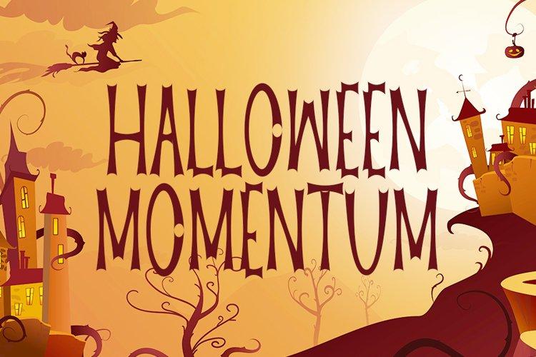 Halloween Momentum - New Halloween Font example image 1