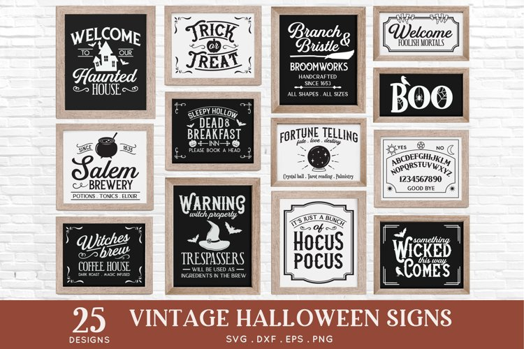 Vintage Halloween Signs Decor svg - halloween svg files png example image 1