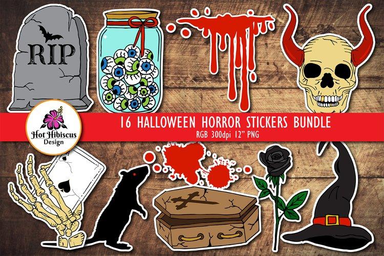 Halloween Printable Stickers Bundle | Horror Stickers Pack
