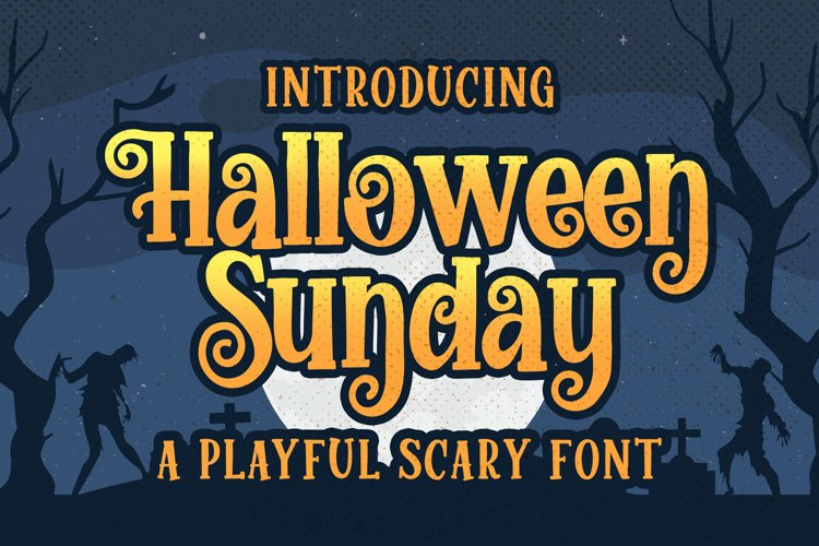 Halloween Sunday - a Playful Scary font example image 1