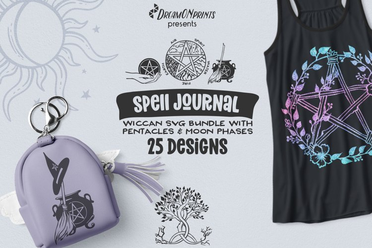 Halloween SVG Bundle | Wicca Witch SVG Bundle with Pentacles