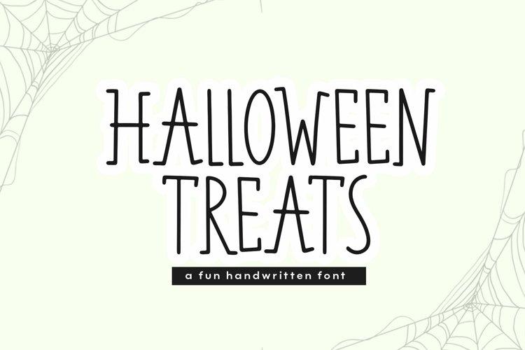 Web Font Halloween Treats - A Fun Handwritten Font example image 1
