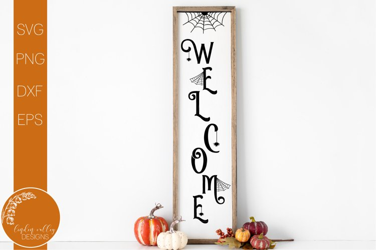 Halloween Welcome Porch Sign SVG