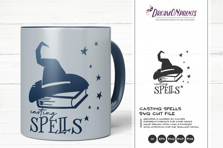 Halloween Witch SVG | Casting Spells