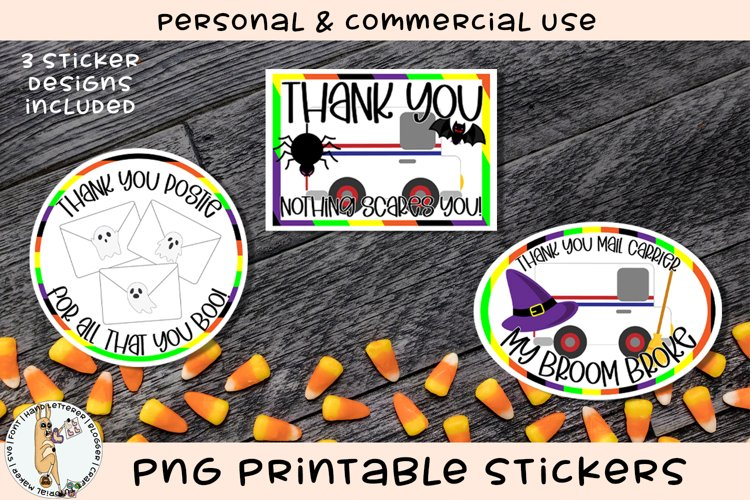 Thank You Mail Carrier Halloween Printable Stickers
