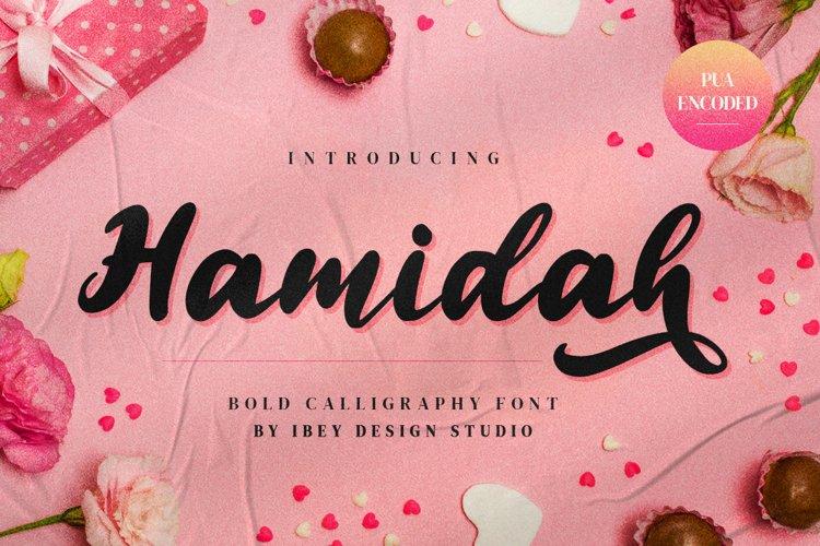 Hamidah - Modern Calligraphy Font example image 1