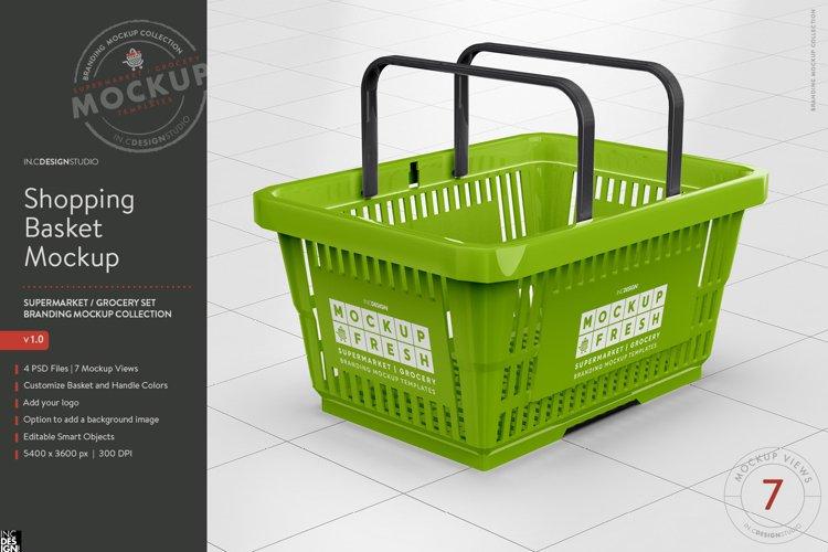 Shopping Basket Branding Mockup