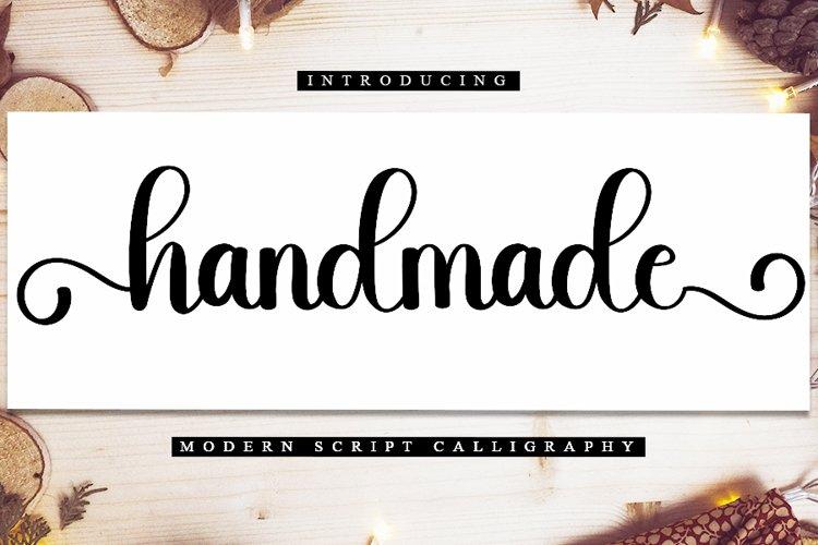 Handmade - Modern Script Font example image 1