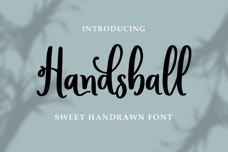 Handsball - Sweet Handrawn Font example image 1