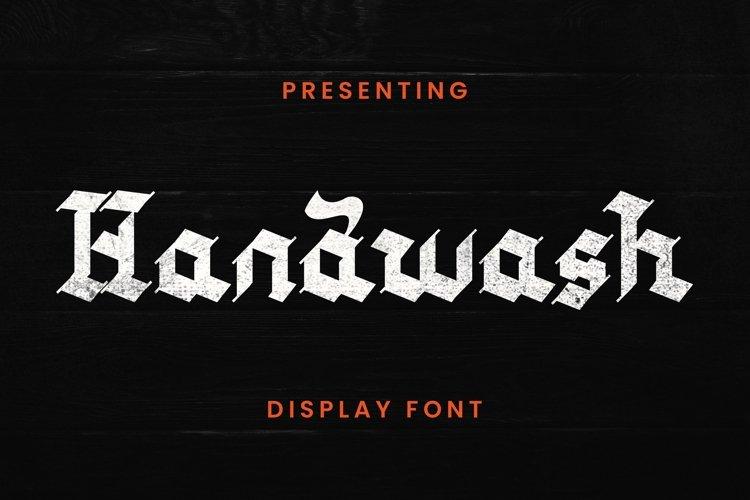 Web Font Handwash - Blackletter Font example image 1