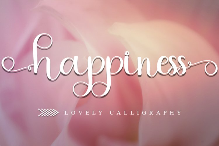 Happiness - Lovely Calligraphy Font example image 1