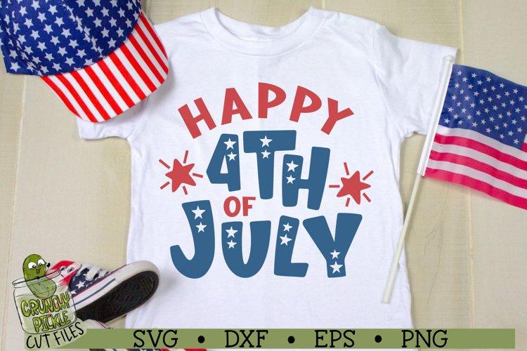 Happy 4th of July Patriotic SVG File