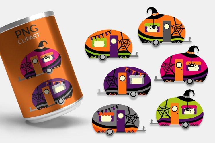 Halloween Happy Camper Clipart Illustrations