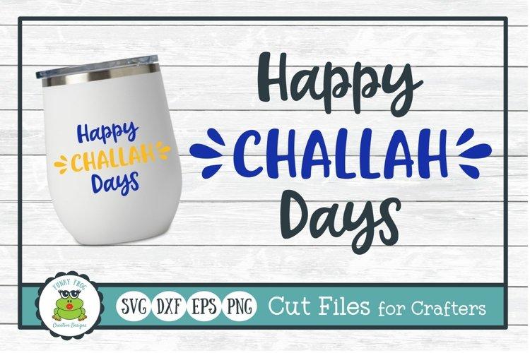 hanukkah svg cut file happy challah days design on white wine glass tumbler mockup