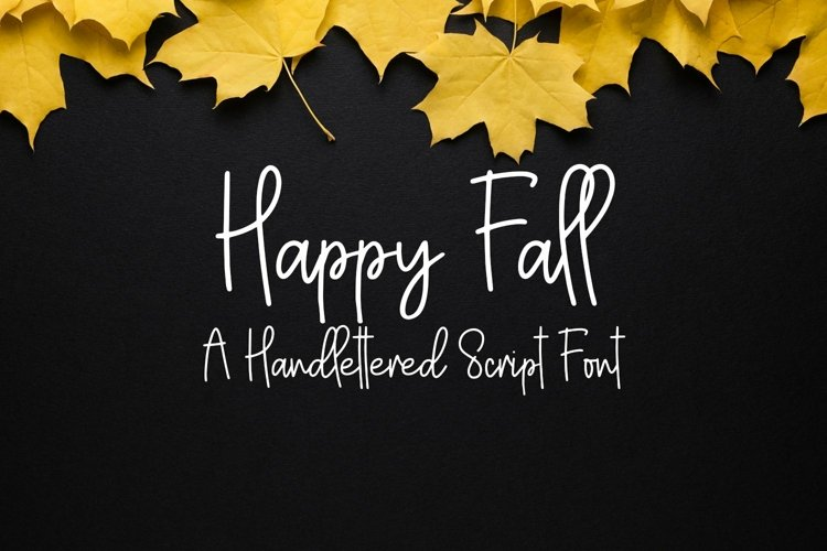 Web Font Happy Fall - A Handlettered Script Font example image 1