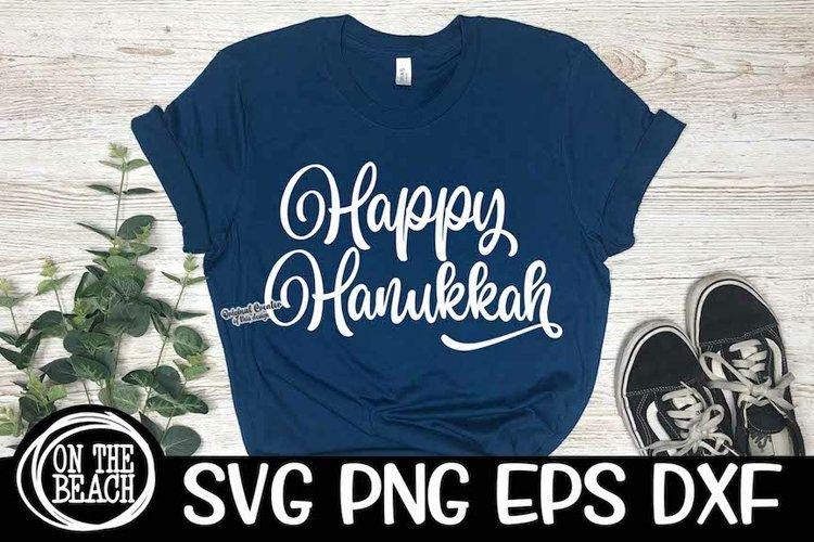 Happy Hanukkah  SVG PNG EPS DXF  Hanukkah SVG example image 1