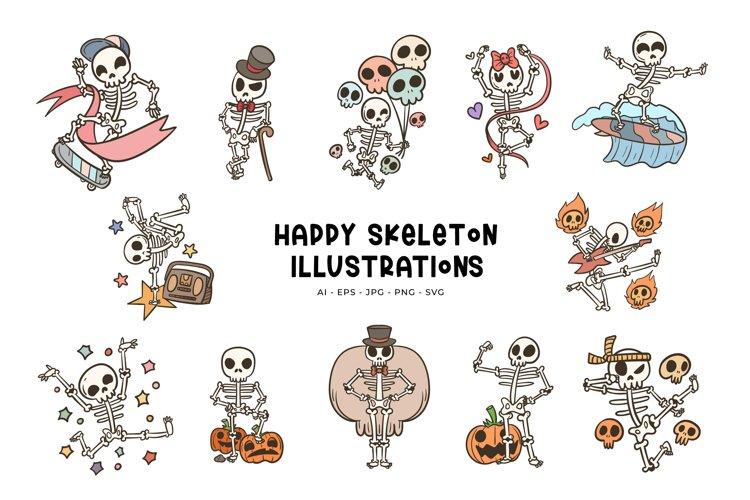 Happy Skeleton Illustrations
