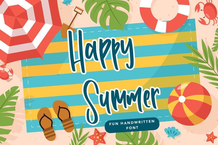 Happy Summer - Fun Handwritten Font example image 1