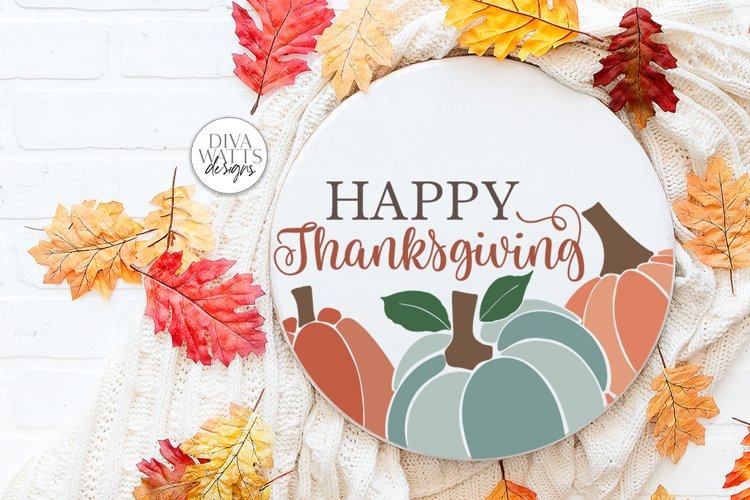 Happy Thanksgiving SVG   Fall / Autumn Design example image 1