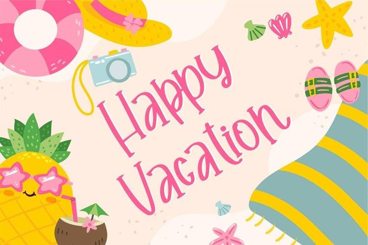 Web Font Happy Vacation - Summer Happy Font