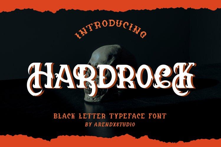 Hardrock - Blackletter Typeface Font example image 1