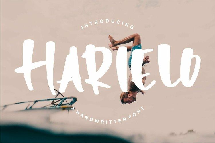 Web Font Harielo - Handwritten Font example image 1