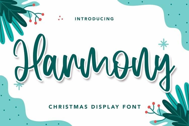 Web Font Harmony - Christmas Display Font example image 1
