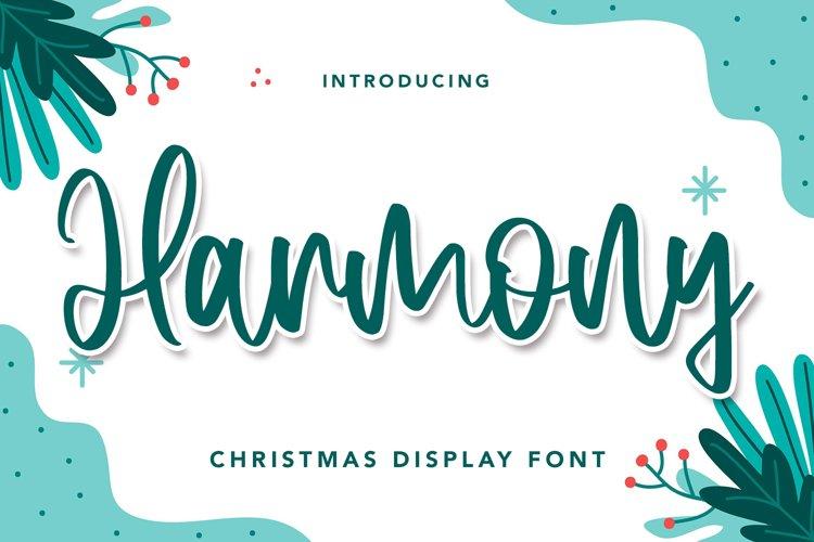 Harmony - Christmas Display Font example image 1