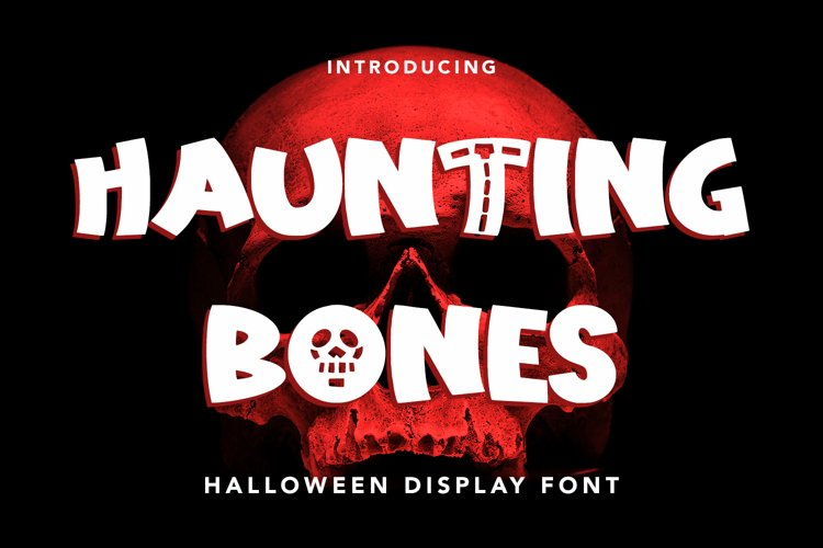 Haunting Bones - Halloween Display Font example image 1