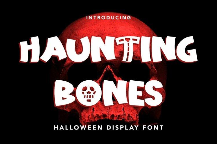 Web Font Haunting Bones - Halloween Display Font example image 1