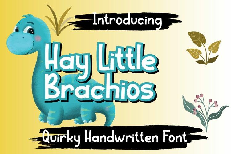 Hay Little Brachios example image 1