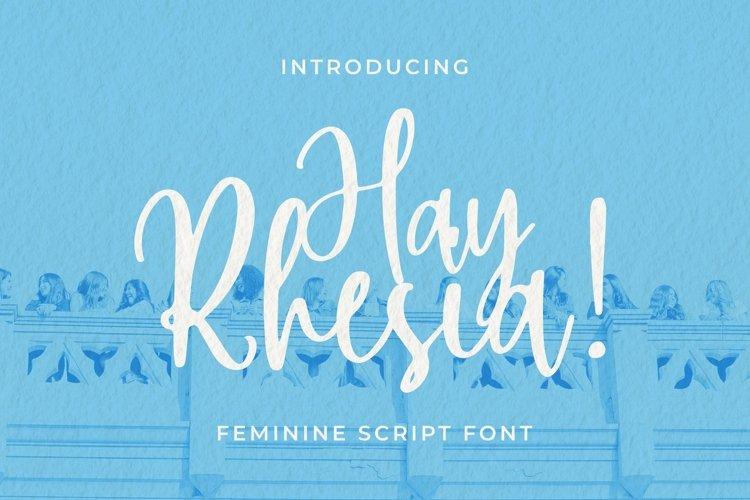 Web Font Hay Rhesia example image 1