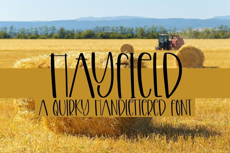 Web Font Hayfield - A Quirky Handlettered Font