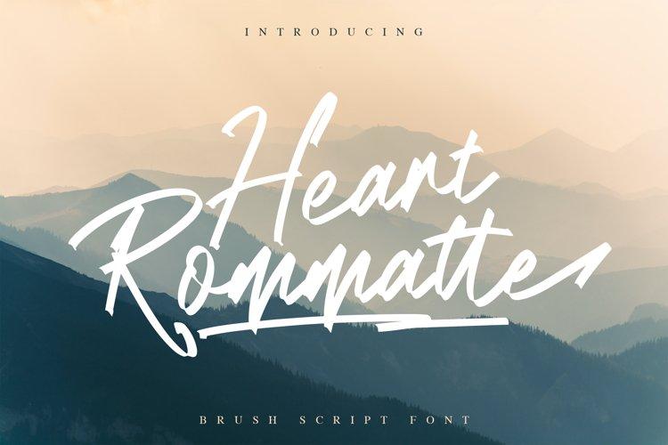 Heart Rommatte - Script Font example image 1