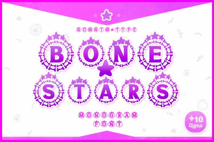 Bone Stars Halloween Monogram Display font / Procreate font example image 1