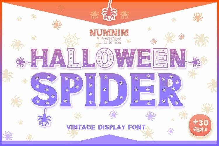 Halloween Spider Display font |Halloween font decorate craft example image 1