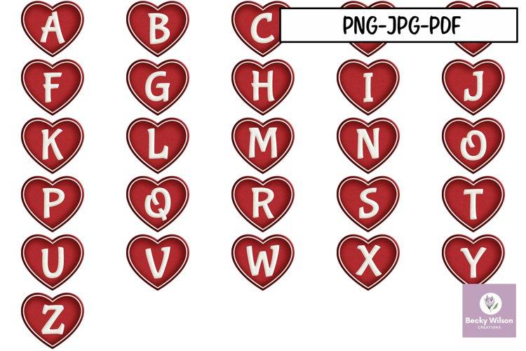 Puffy Heart Monogram example image 1