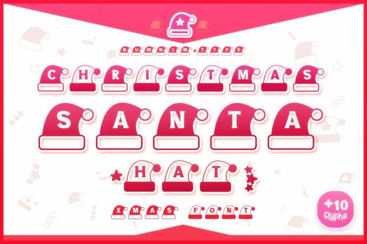 Christmas Santa Hat font winter Procreate Xmas kids fonts example image 1