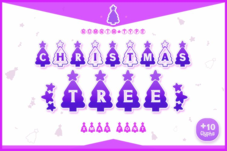 Christmas Tree Display font winter procreate font Xmas fonts example image 1