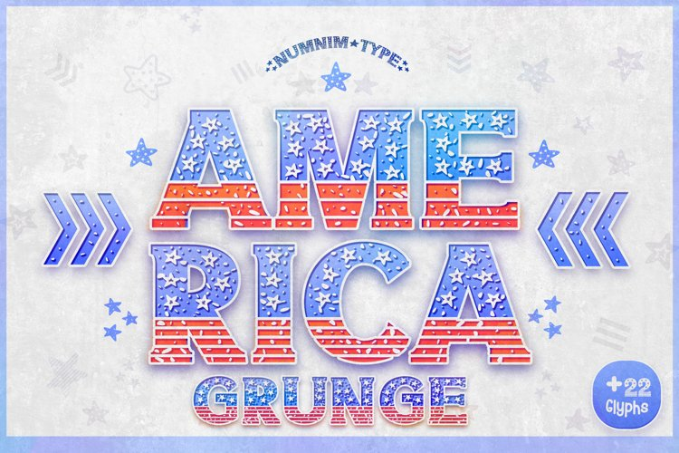 America GRUNGE - USA 4th of july Nation Day Classic Display