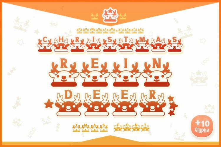 Christmas Reindeer font winter Procreate Xmas kids fonts example image 1