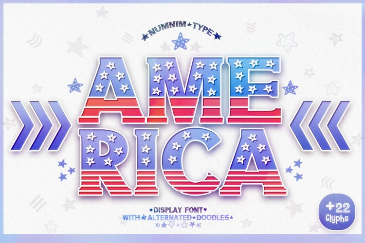 America - USA 4th of july Nation Day Classic Display font