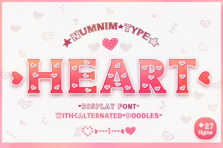 Heart - Classic Display font with doodle glyphs example image 1