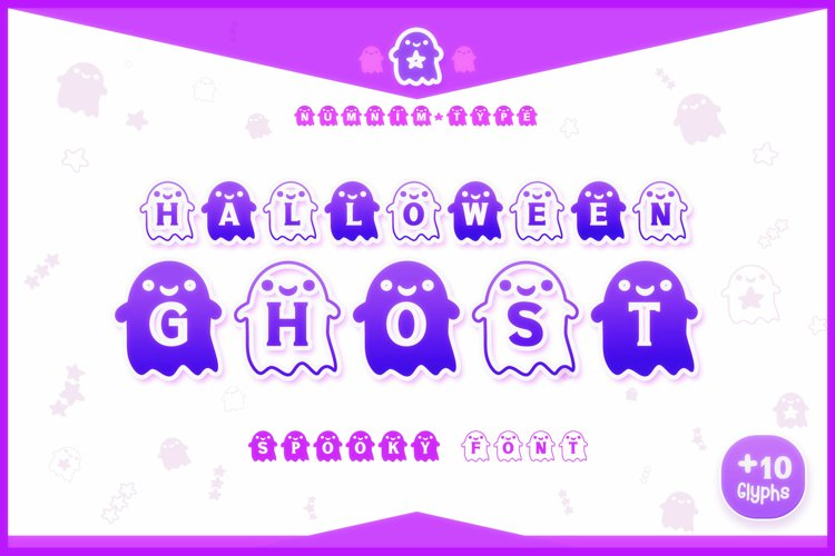 Halloween Ghost Monogram Display font / Boo Procreate font example image 1