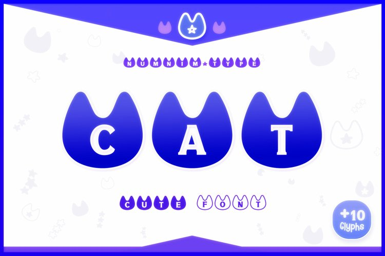 Cat Monogram Display font Procreate font Pet font example image 1