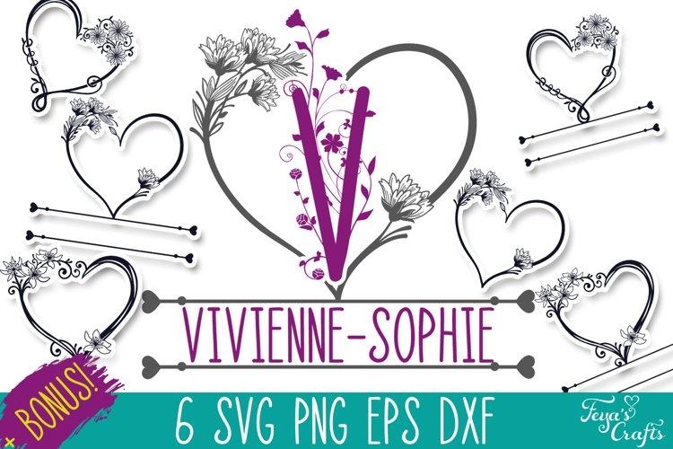 Heart Monogram SVG Pack | Baby Monogram SVG & Bonus Font