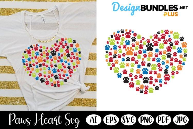 Paw Heart, Heart Paw Cloud SVG