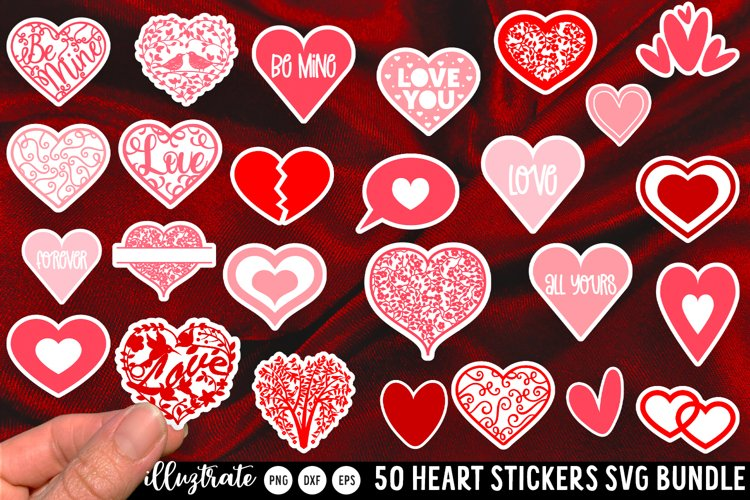 Heart Sticker SVG Bundle | Heart SVG