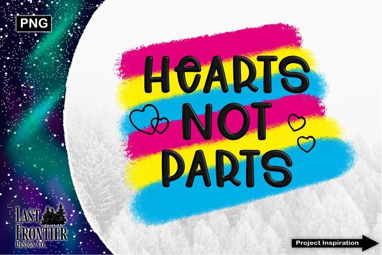 Hearts not Parts Sublimation Design