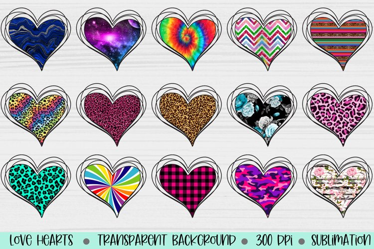 200 Hearts for sublimation 2, Heart Sublimation files